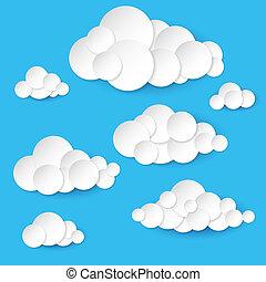 תקציר, נייר, עננים