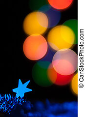תקציר, עגול, bokeh, רקע, של, christmaslight
