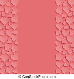 תקציר, רקע, עם, hearts., וקטור, illustration.
