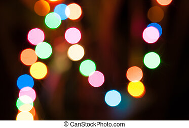 תקציר, bokeh, רקע, של, christmaslight