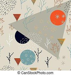 תקציר, pattern., יער, seamless