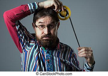 あごひげを生やしている, 巻き枠, フィルム, 人