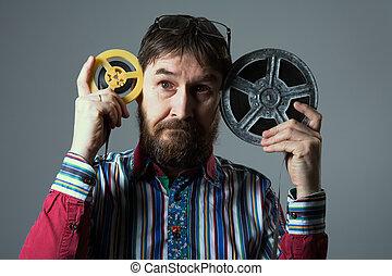 あごひげを生やしている, 巻き枠, 2, フィルム, 人