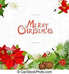 あなたの, デザイン, クリスマスカード, 招待
