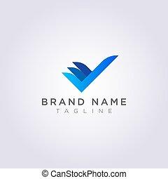 あなたの, ビジネス, ブランド, デザインをチェックしなさい, ロゴ, 創造的, ∥あるいは∥