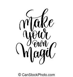 あなたの, マジック, レタリング, 手, 所有するため, 作りなさい, 書かれた