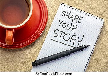あなたの, 分け前, 物語, 手書き