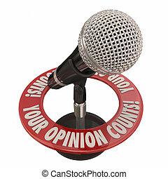 あなたの, 意見, 計算, マイクロフォン, 分け前, comments, 考え
