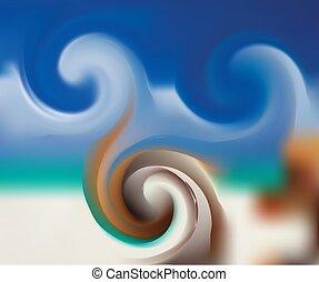 あなたの, 自然, エコロジー, 背景, デザイン, 抽象的, ポスター, 勾配, 青, 旗, 緑, グラフィック, 背景。, ぼんやりさせられた, ∥あるいは∥, 概念, illustration., light.