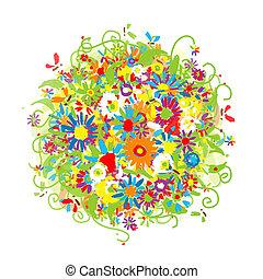 あなたの, 花の花束, スケッチ, デザイン