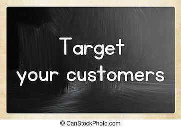 あなたの, 顧客, ターゲット, 概念