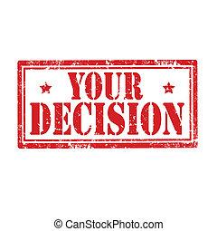 あなたの, decision-stamp