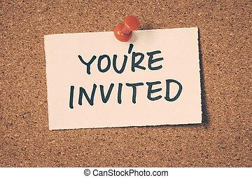 あなたは招待される
