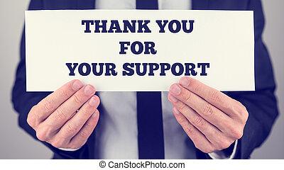 あなた, あなたの, サポート, 感謝しなさい