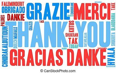 あなた, 単語, 雲, 感謝しなさい