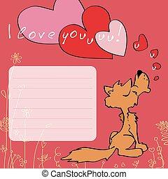 あなた, 愛, グリーティングカード