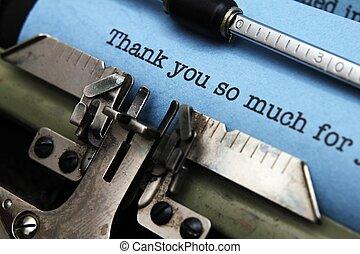 あなた, 感謝しなさい, 手紙