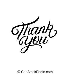 あなた, 手, lettering., 書かれた, 感謝しなさい
