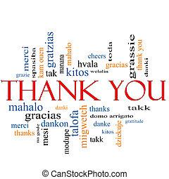 あなた, 概念, 単語, 感謝しなさい, 雲
