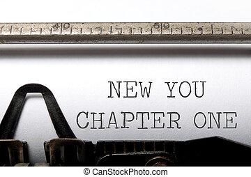 あなた, 章, 新しい, 1(人・つ)