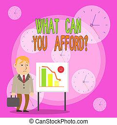 あなた, 缶, chart., 地位, showcasing, 場合, バー, 何か, あなたの, ビジネスマン, できなさい, お金, 執筆, 弾力性, 有効性, ビジネス, 報告書, 提示, メモ, question., whiteboard, 私達, 予算, 写真