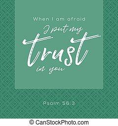 あなた, 聖書, いつか, 印刷である, 恐れている, 円, 背景, 置かれた, 賛美歌, 幾何学的, 信頼, 私,...