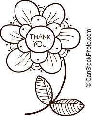 あなた, 花, テキスト, 感謝しなさい