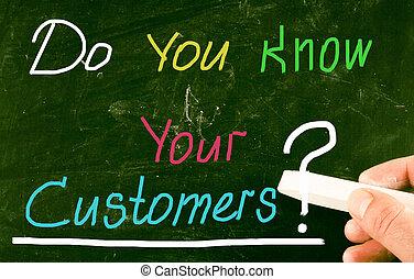 あなた, customers?, 知りなさい, あなたの