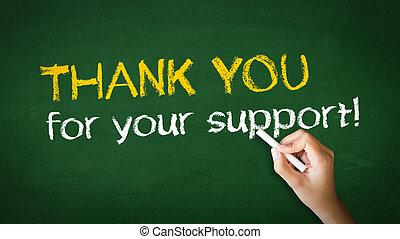 ありがとう, ∥ために∥, あなたの, サポート, チョーク, イラスト