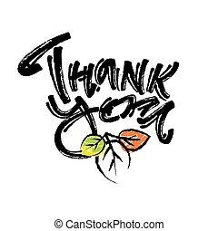 ありがとう, 手書き, ベクトル, チョーク, ポスター