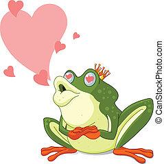 ありなさい, キスされた, カエル, 待つこと, 王子