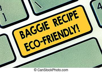 ありなさい, キー, テキスト, 印, 提示, アイロンかけ, analysisy, friendly., 缶, 作成しなさい, 写真, キーボード, eco, intention, 買い物, メッセージ, baggie, reused, idea., 袋, コンピュータ, キーパッド, 概念, 時, レシピ