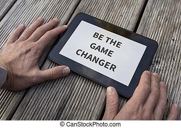 ありなさい, メッセージ, インスピレーションを与える, 動機づけである, ゲーム, チェンジャー