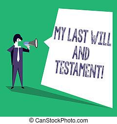 ありなさい, 作られた, 最後, もの, 提示, testament., リスト, 印, 意志, 彼の, テキスト, 概念, orher, death., 私, 写真, 後で