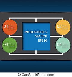 ありなさい, 使われた, 10, format., 現代, eps, デザイン, 缶, テンプレート, infographics, .vector