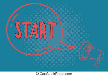 ありなさい, 始めなさい, 概念, 単語, ビジネス, reckoned, テキスト, ポイント, スペース, 執筆, start., 時間, 発射, ∥あるいは∥, 特定
