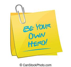 ありなさい, 所有するため, 英雄, メモ, イラスト, デザイン, あなたの