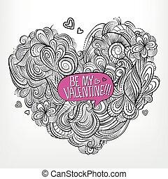 ありなさい, 挨拶, ベクトル, valentine., 私, 図画, カード
