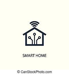 ありなさい, 概念, illustration., 網, 単純である, シンボル, 要素, 使われた, 缶, 家, icon., 痛みなさい, design.