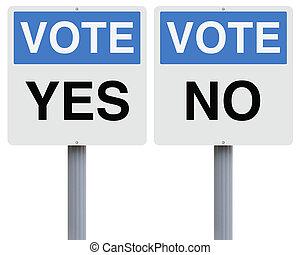 ∥あるいは∥, いいえ, 投票, はい