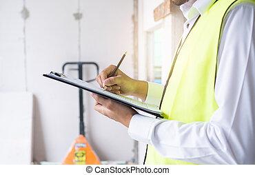 ∥あるいは∥, エンジニア, 検査官, サイト, 建築業者, 点検, 仕事, constructon
