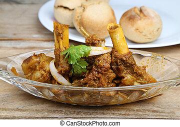 ∥あるいは∥, カレー, マトン, 皿, 肉, indian, スタイル