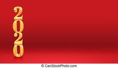 ∥あるいは∥, スペース, 2020, コピー, 付け加える, 部屋, concept., (3d, クリスマス, 背景, プロダクト, 新年, スタジオ, rendering), 数, 休日, 金, 赤, 休暇, テキスト, 季節的, ディスプレイ