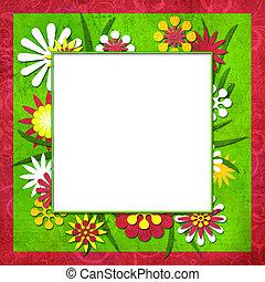 ∥あるいは∥, テキスト, 切抜き, 夏, 花, フレーム, 面白い, 写真