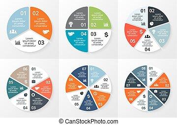 ∥あるいは∥, ビジネス, データ, オプション, chart., プレゼンテーション, 6, 図, グラフ, テンプレート, 周期, ベクトル, infographics, ラウンド, processes., 8, 5, set., 円, 部分, ステップ, 4, visualization., 3, 7, 概念