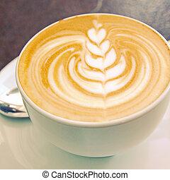 ∥あるいは∥, フィルター, レトロ, 芸術, カプチーノ, latte, コーヒー, 効果