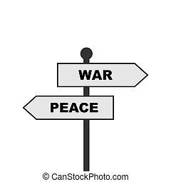 ∥あるいは∥, ベクトル, 戦争, イラスト, 平和, 方向