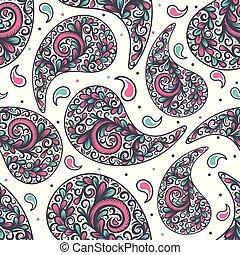 ∥あるいは∥, ペイズリー織, 偉人, elements., indian, motifs., pattern., seamless, 切望された, 織物, 伝統的である, ornament., 包装, (どれ・何・誰)も, 活気づきなさい, 考え, トルコ語, 民族, 抽象的, 生地, 型, 壁紙