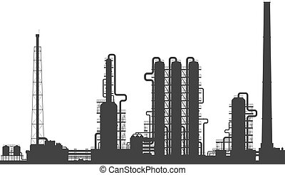 ∥あるいは∥, 化学精製所, 植物, silhouette., オイル