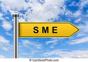 ∥あるいは∥, 印, 道, サイズを定められた, 企業, 小さい, 黄色, sme, 媒体